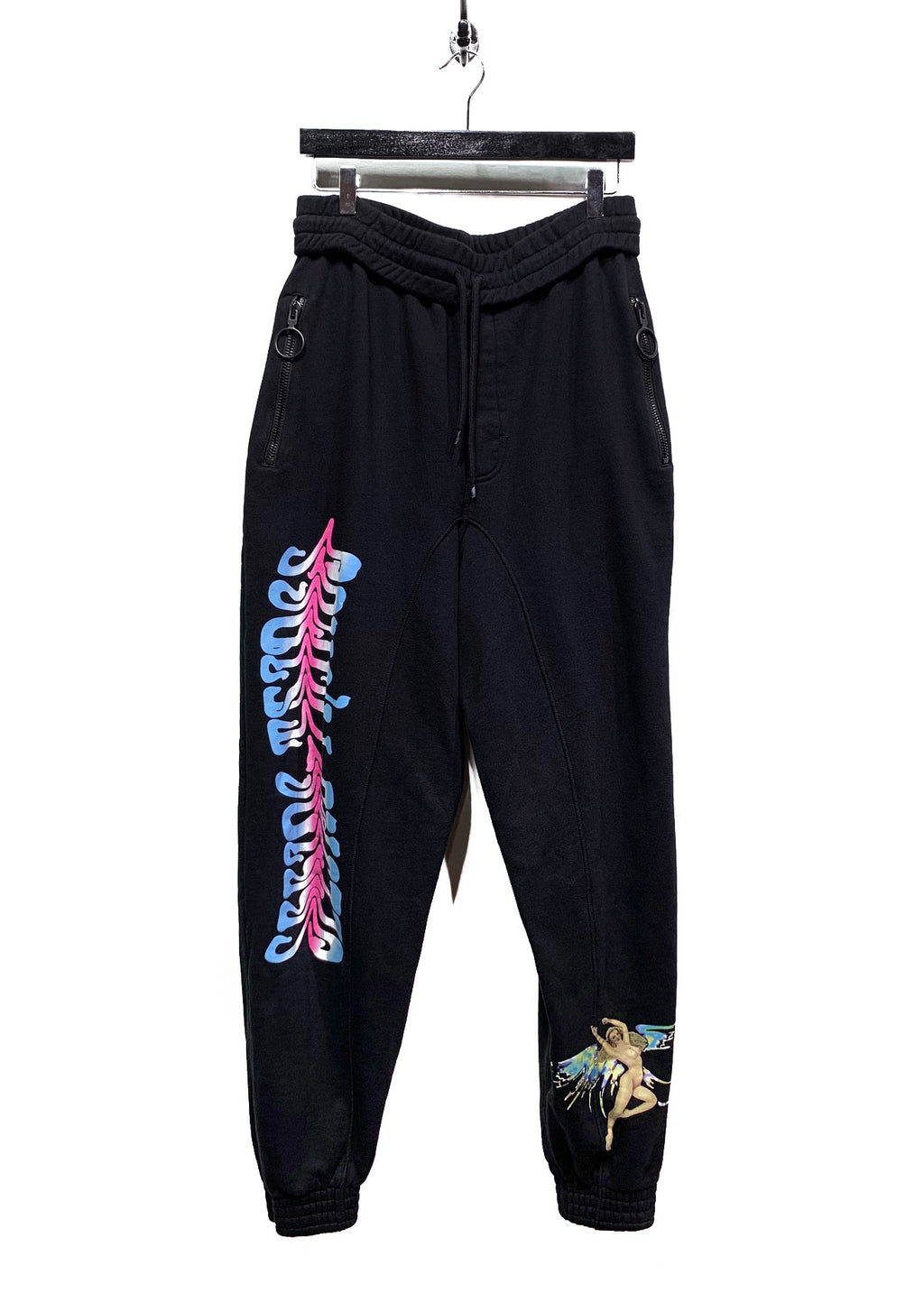 "Off-White SS17 ""Seeing Things"" Angel Printed Black Sweatpants"