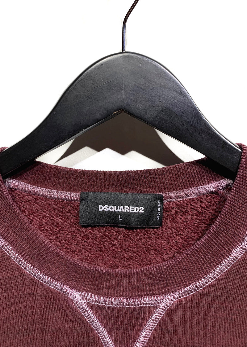 Dsquared2 Burgundy ''The Caten Peak'' Printed Sweatshirt