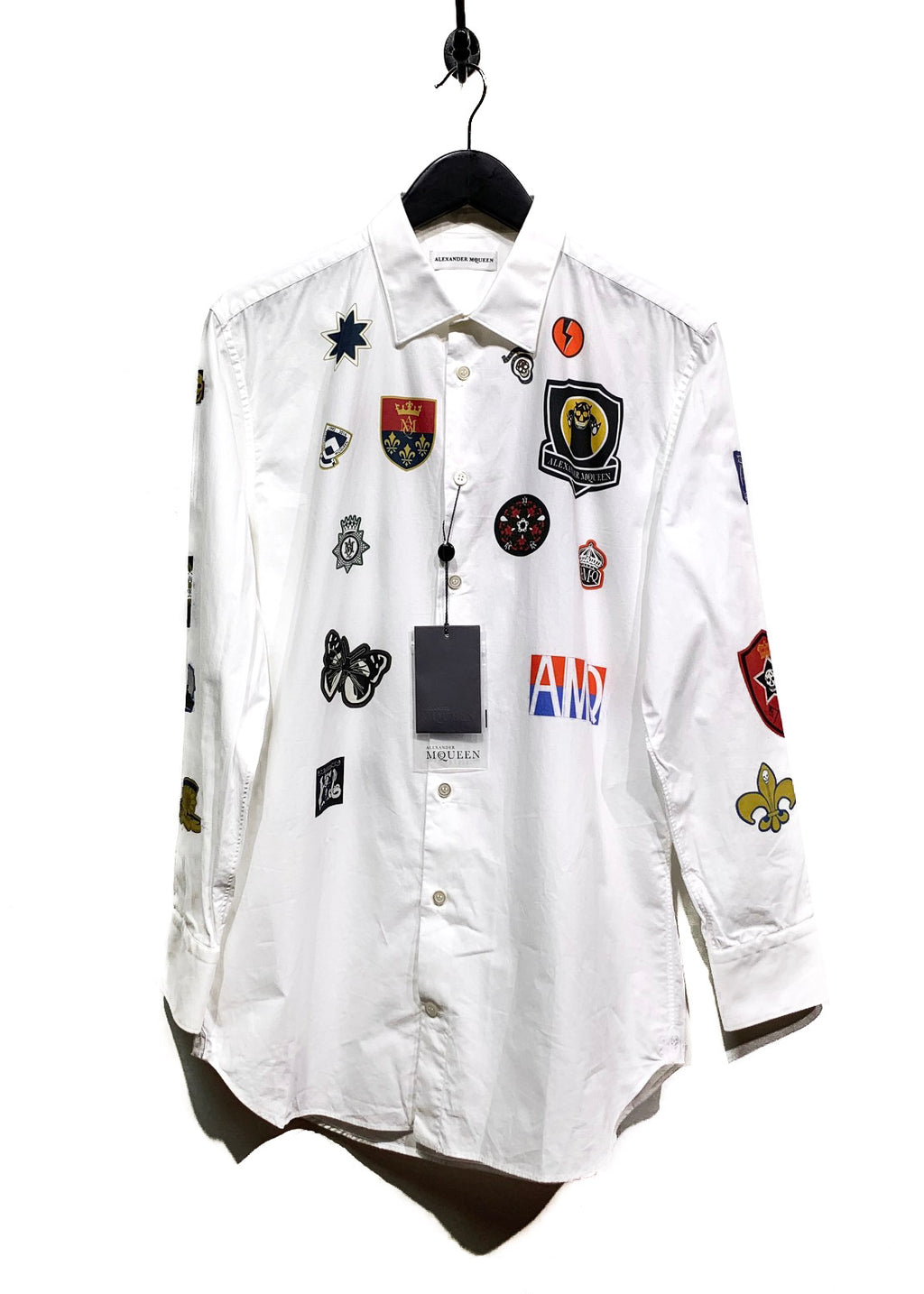 Alexander McQueen White Badges Print Shirt