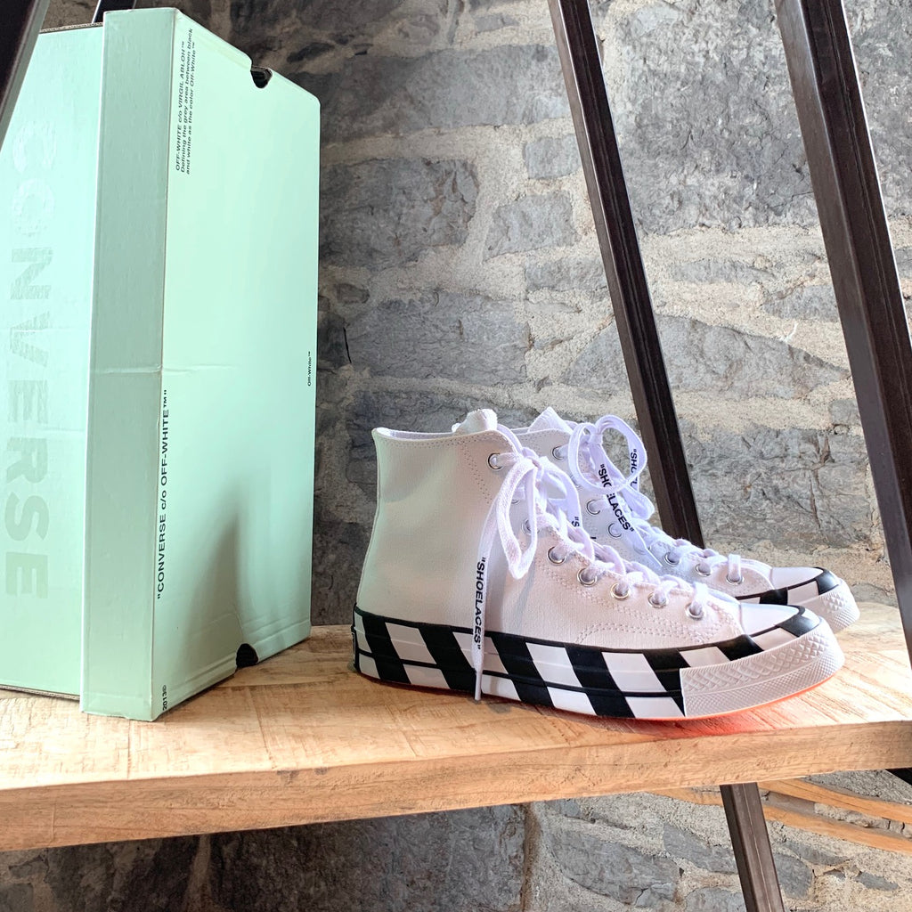 Converse X Off-white Chuck Taylor All Star 70 White High-top Sneakers