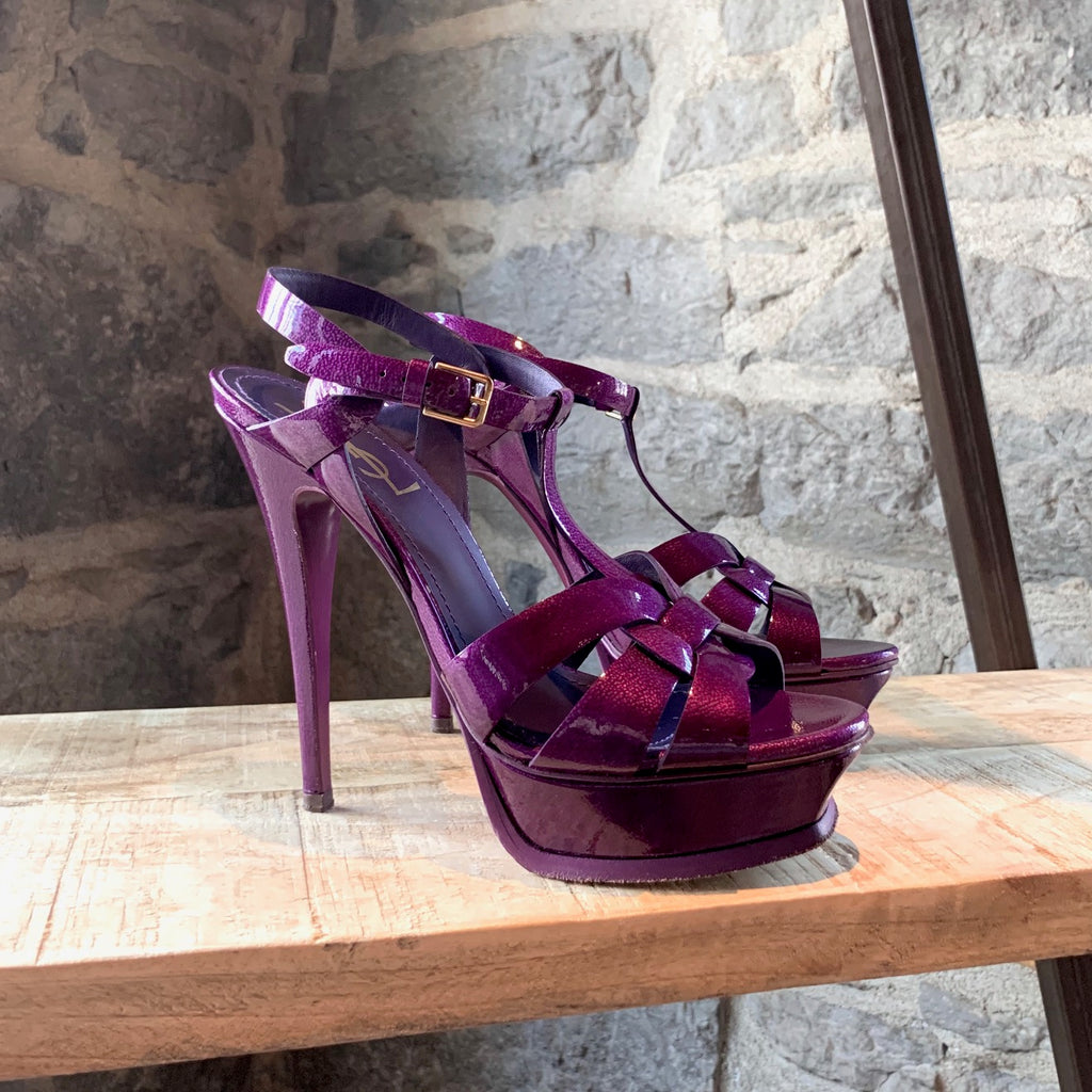 Yves Saint-Laurent Purple Patent Tribute Heels
