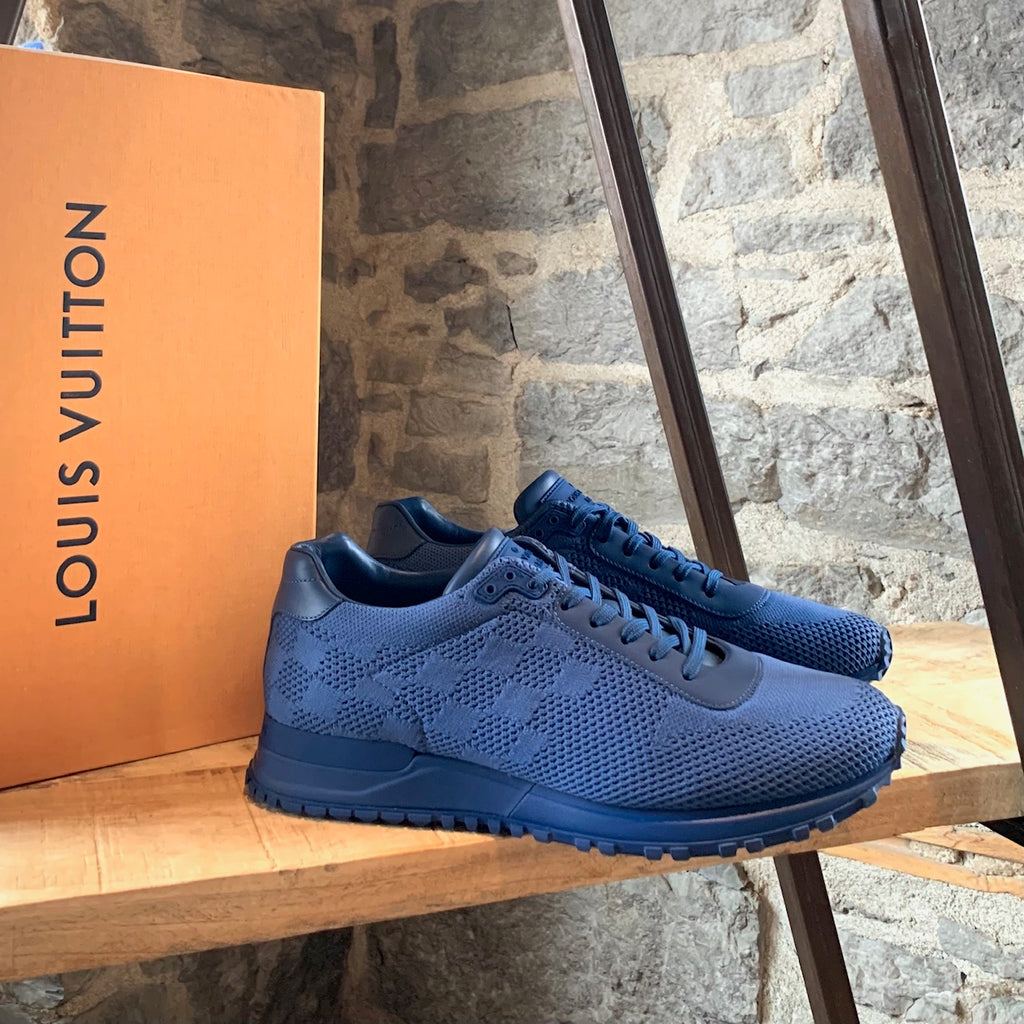 Louis Vuitton Blue Damier Mesh Run Away Sneakers