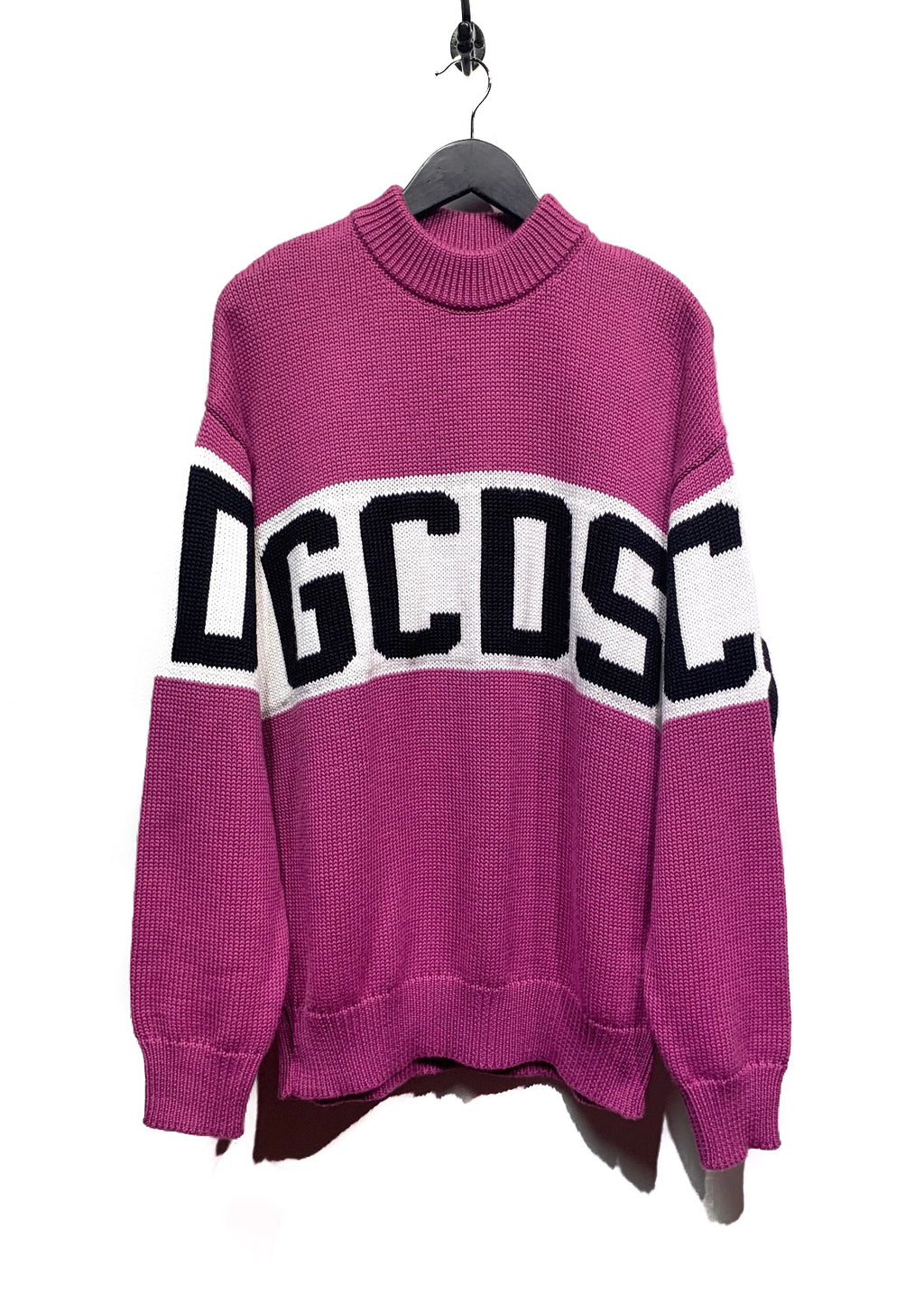 GCDS Purple Logo Knit Sweater