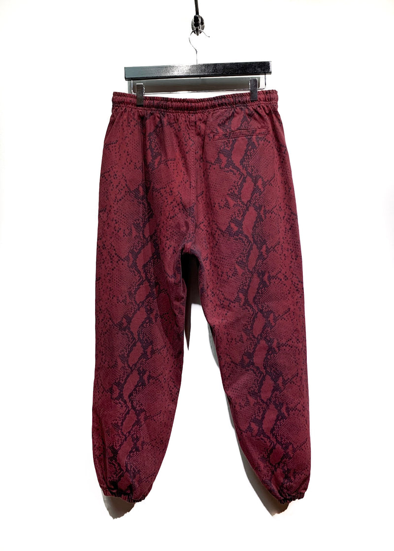Alexander Wang Burgundy Diamond Snakeprint Jogger Pants