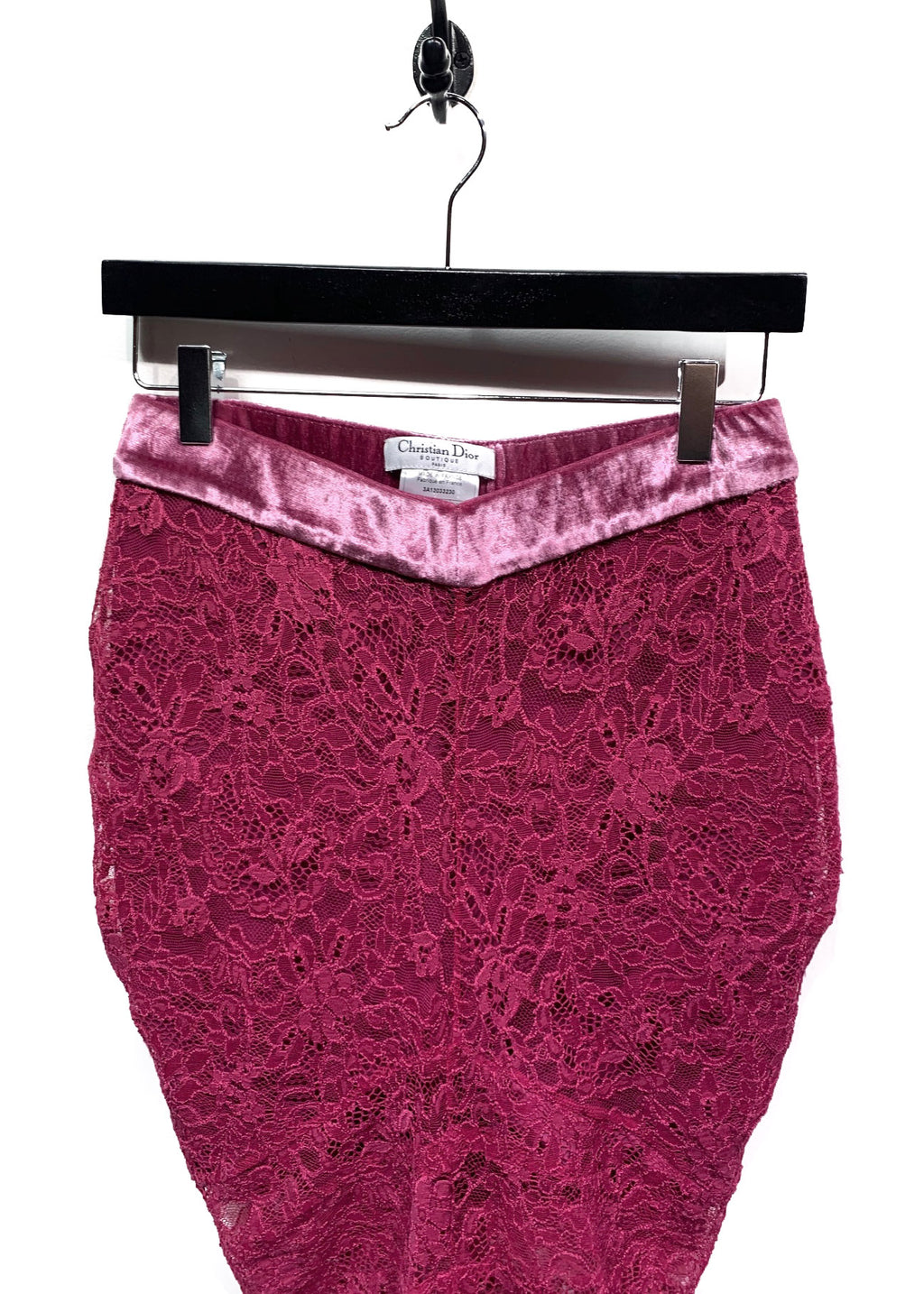 Christian Dior Fuschia Lace Skirt