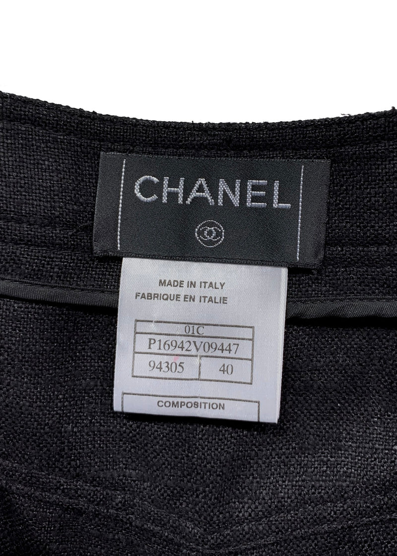Chanel Resort 2001 Black Silk Trousers
