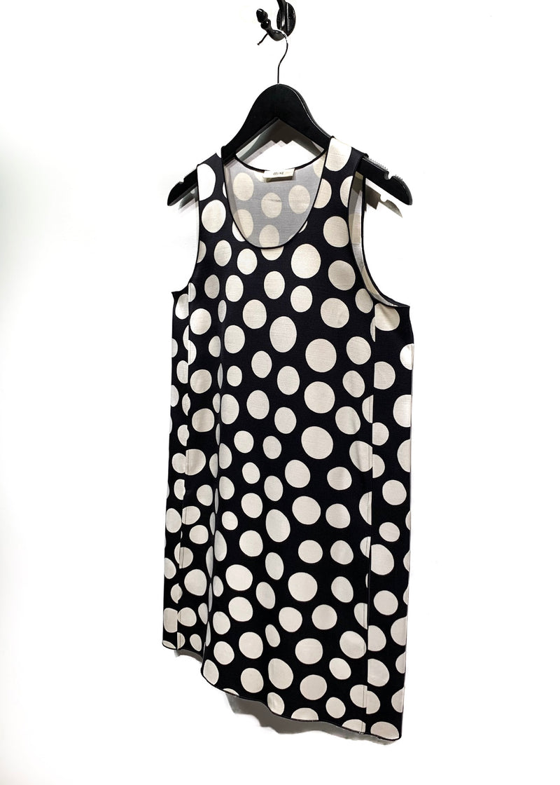 Céline Ivory and Black Polka Dots A-Line Dress