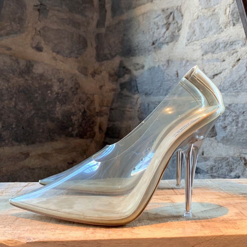 Yeezy Season 8 Clear Soft PVC Plexi Pumps