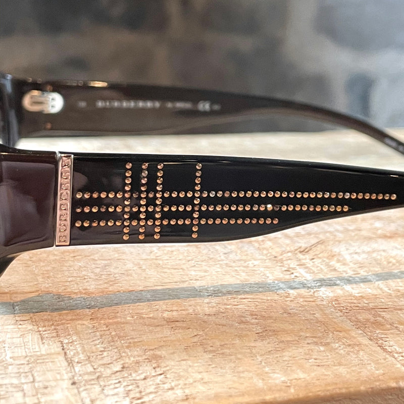 Burberry B 8483/S Brown Acetate Studded Sunglasses