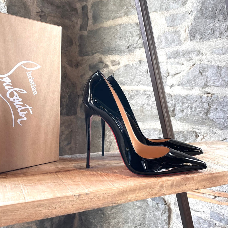 Christian Louboutin Black Patent So Kate 120 Pumps