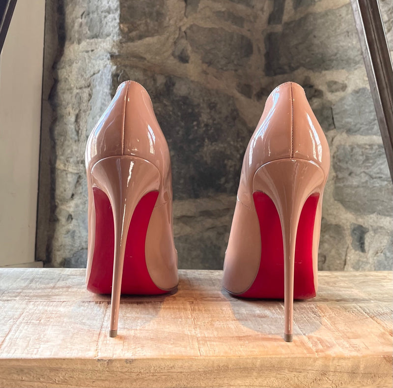 Christian Louboutin Nude Patent So Kate 120 Pumps