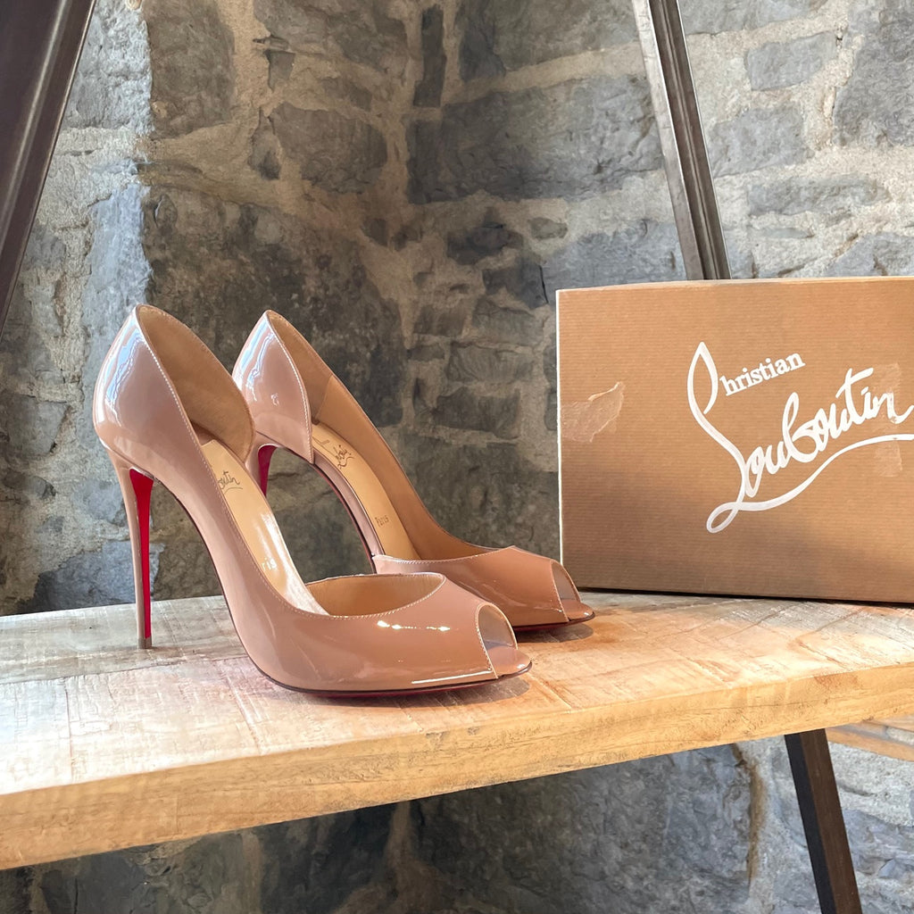 Christian Louboutin Nude Patent Demi You Pumps