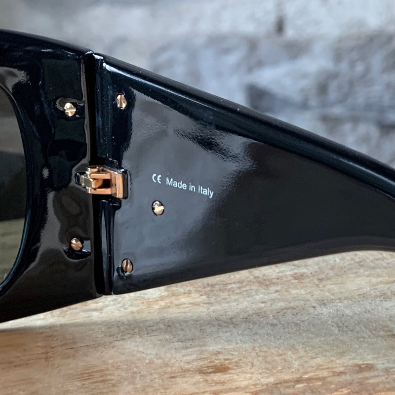 Chopard Black Sunglasses with Gold Detailing