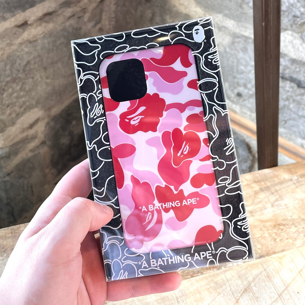 "Bape ABC Camo ""A Bathing Ape"" Pink iPhone 12 / 12 Pro iPhone Cover"