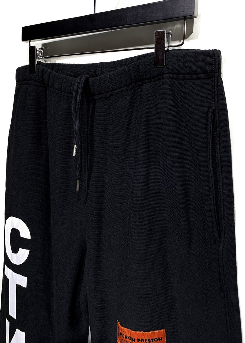 Heron Preston Black Printed Ctnmb Sweatpants