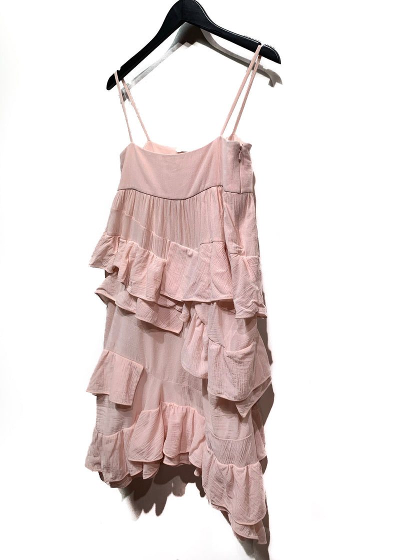 Chloé Light Pink Cotton Ruffle Dress
