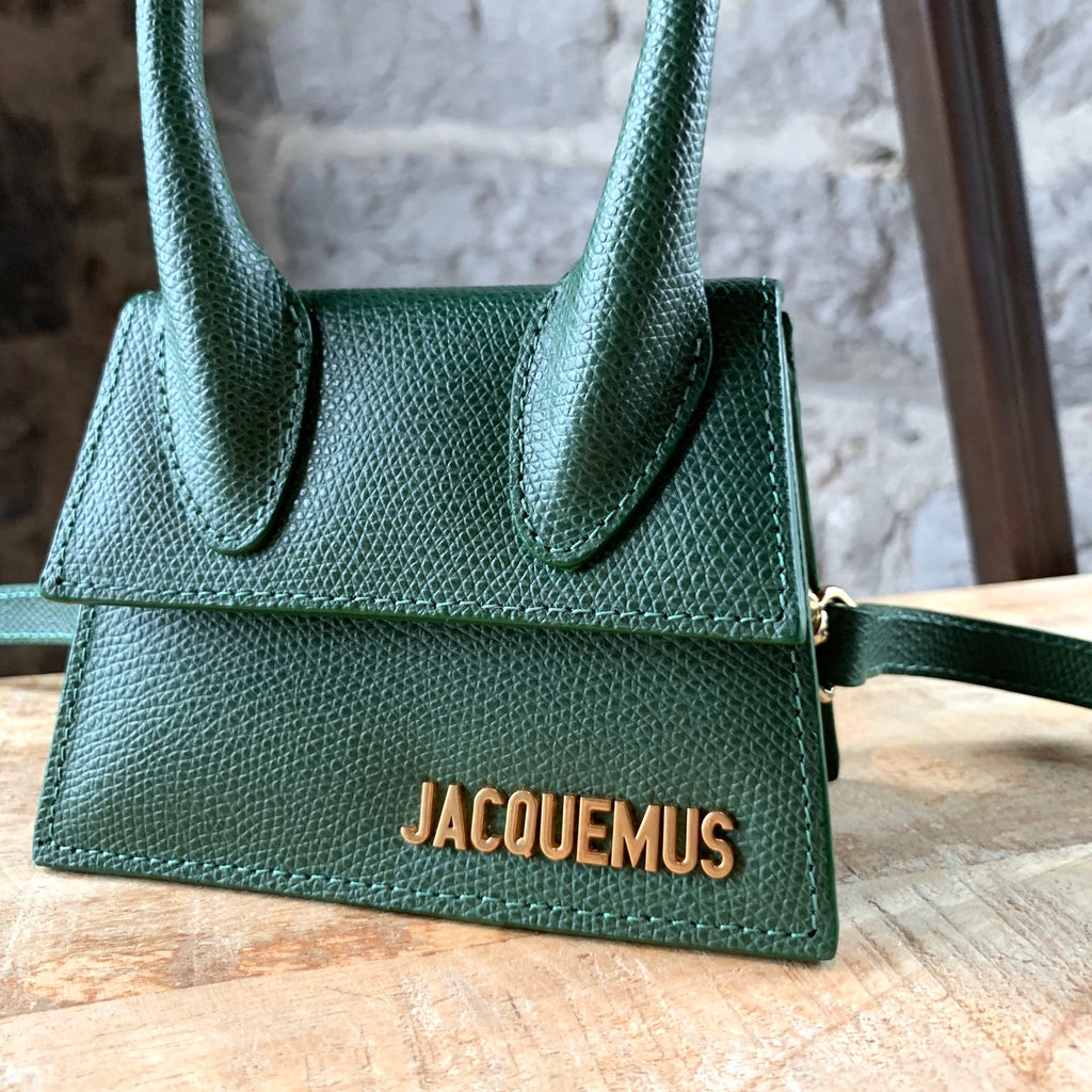 Jacquemus Green Leather Le Sac Mini Chiquito Bag