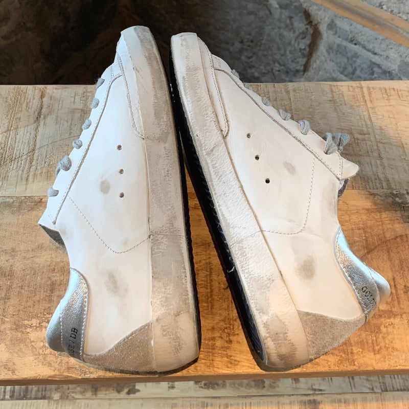Golden Goose White & Silver Superstar Low-top Sneakers