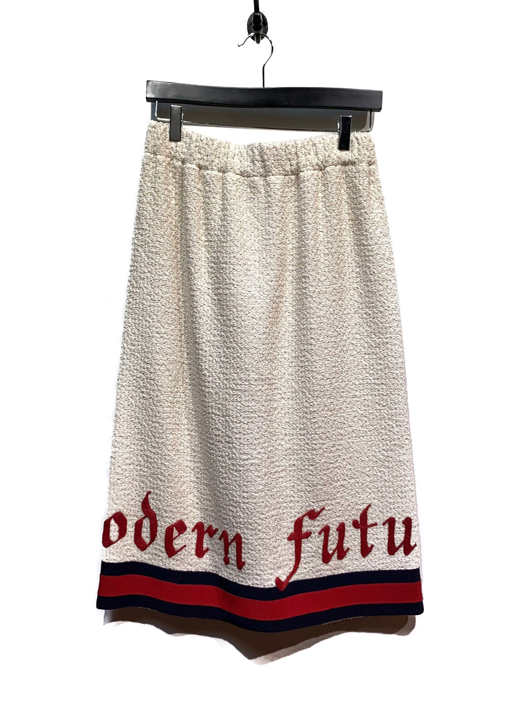"Gucci Ivory ""Modern Future"" Bouclé-Tweed Midi Skirt"
