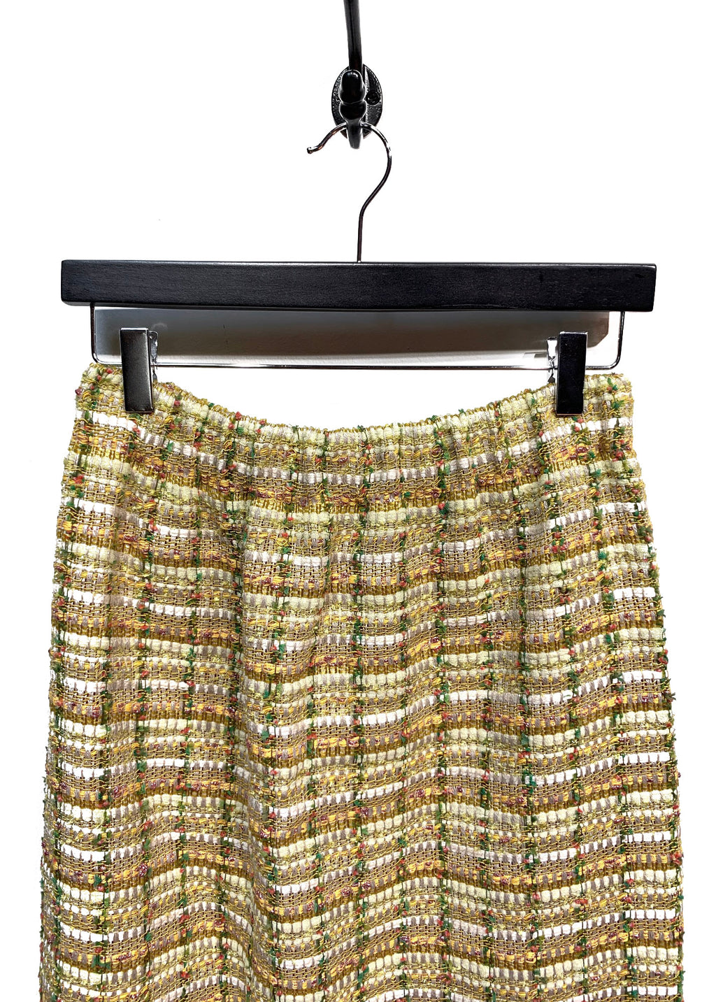 Gucci Tweed Web Trim Midi Skirt