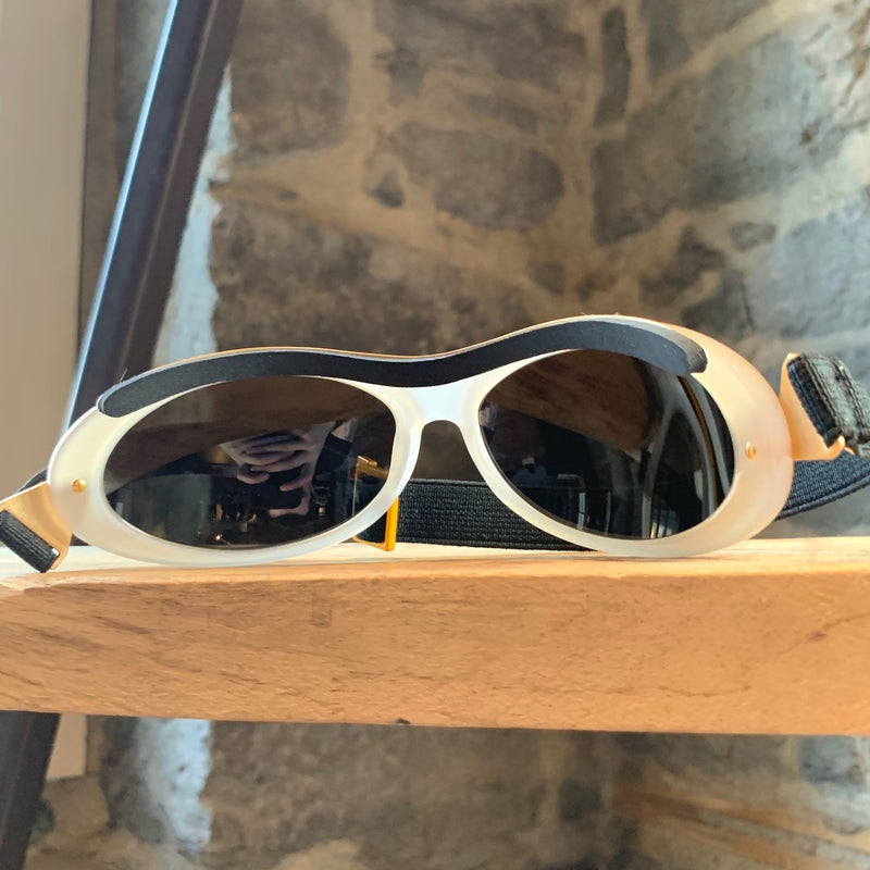 Chanel Vintage Gold Ski Sunglasses