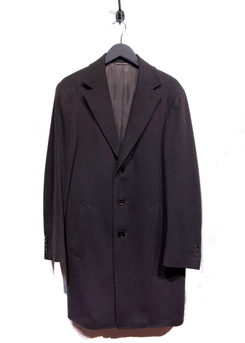 Canali Brown Cashmere and Wool Coat