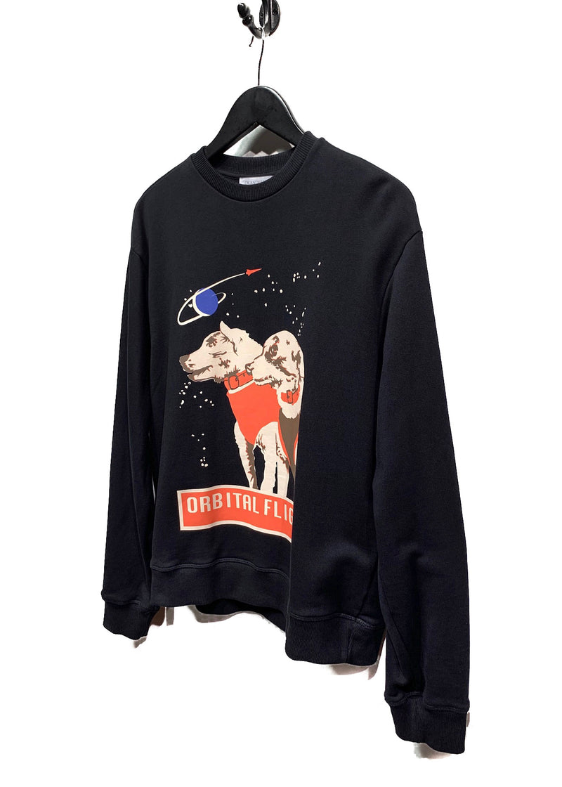 J.W. Anderson Orbital Flight Dogs In Space Black Sweatshirt