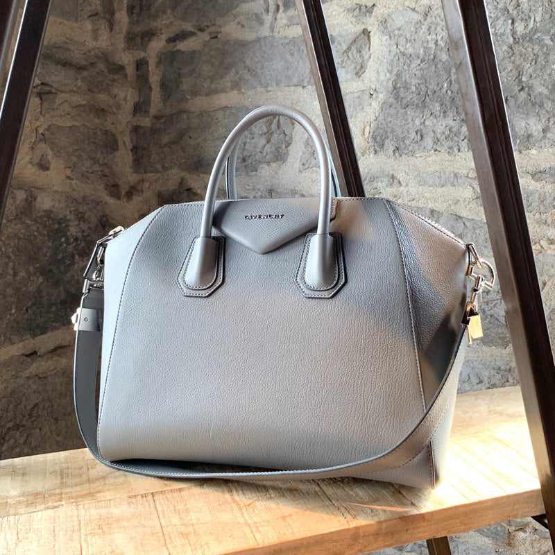 Givenchy Pearl Grey Medium Antigona Handbag