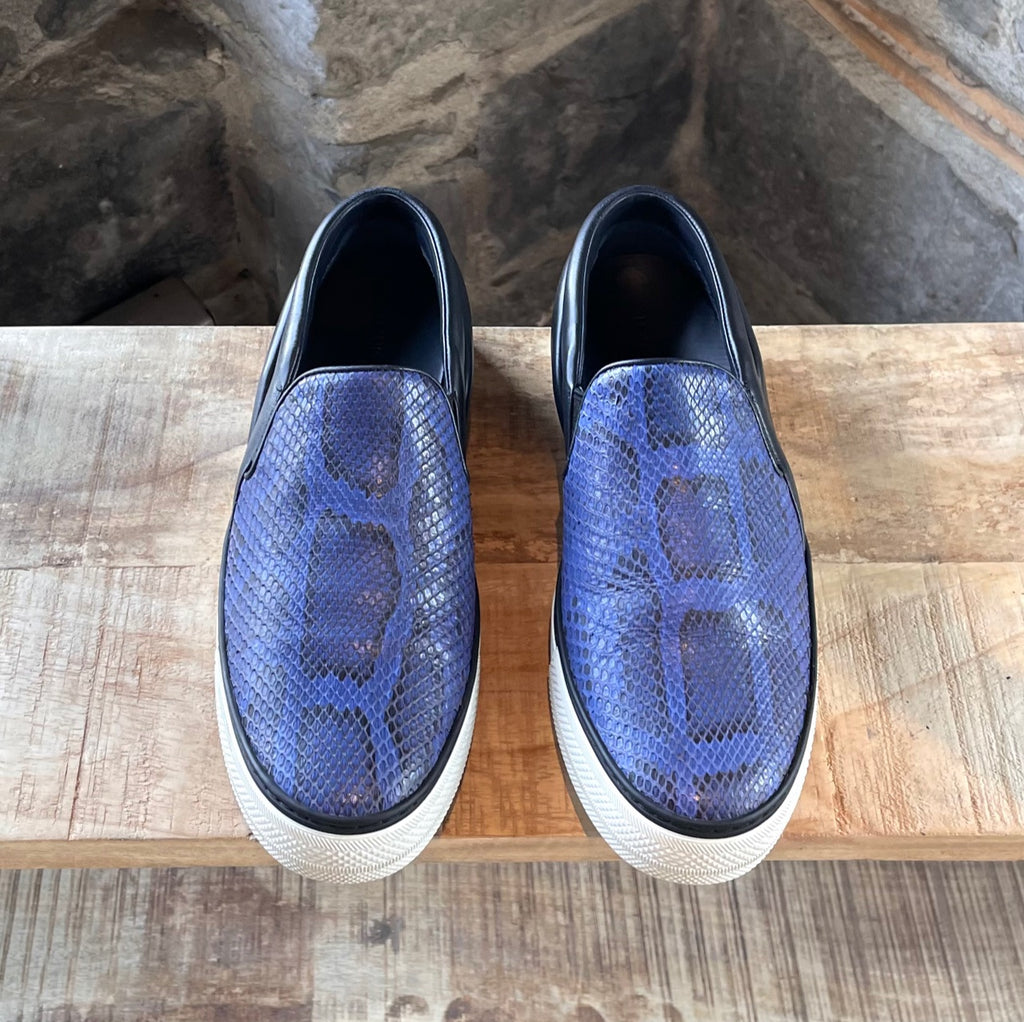 Louis Vuitton Blue Python Skate Slip-on Sneakers