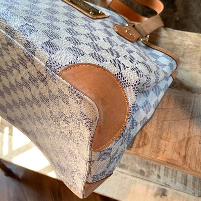 Louis Vuitton Azur Damier Hampstead PM Handbag