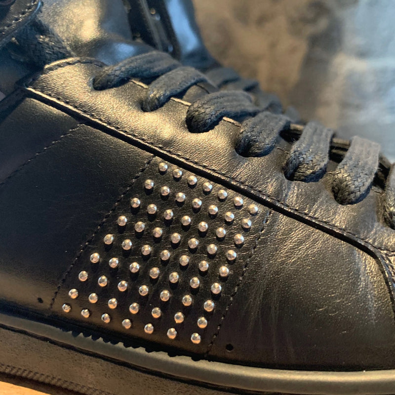 Saint Laurent Paris Black Studded High-top Sneakers