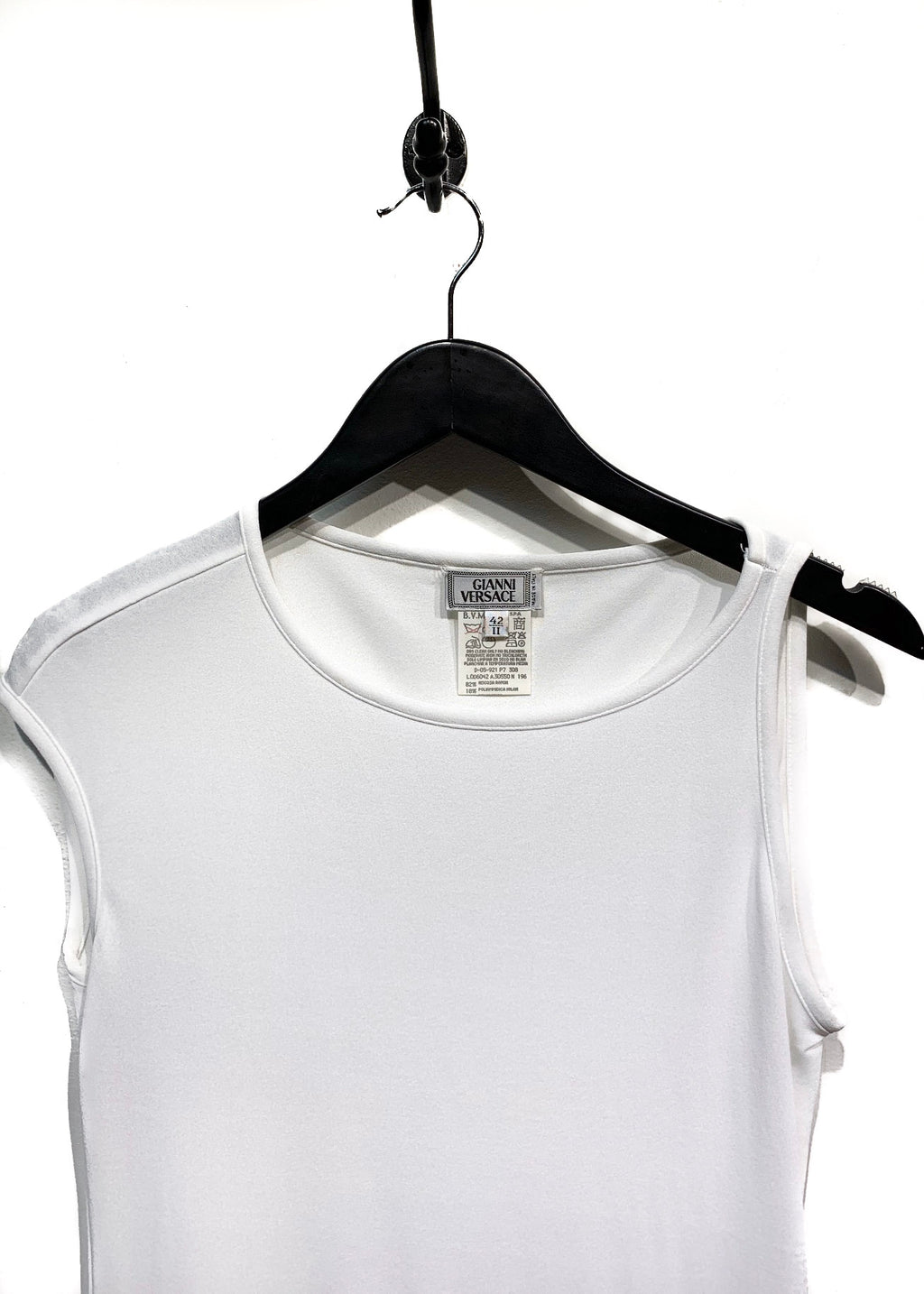 Gianni Versace White One Sleeve Tank