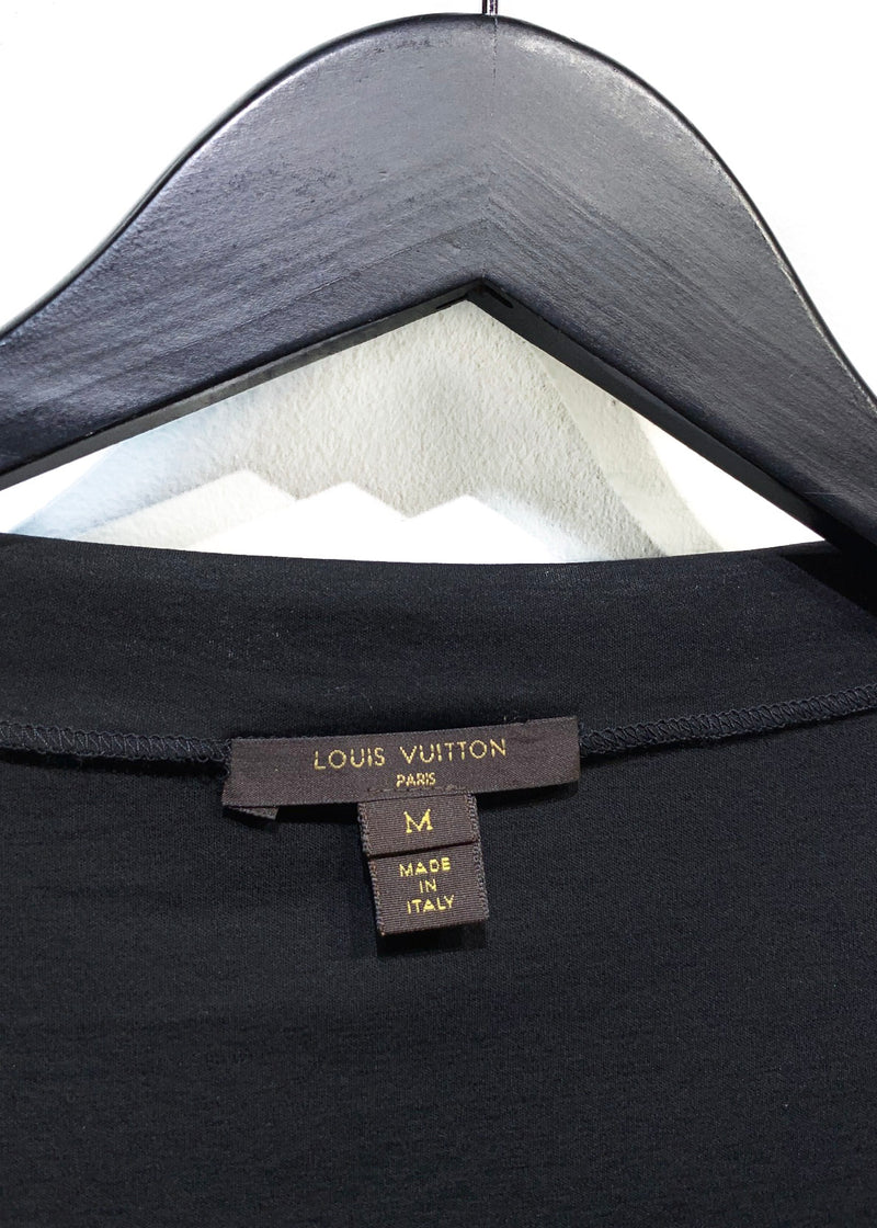 Louis Vuitton Black Ruffle Short Sleeve Top