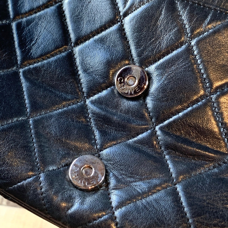 Chanel Black Quilted Double Pocketed Shoulder Bag
