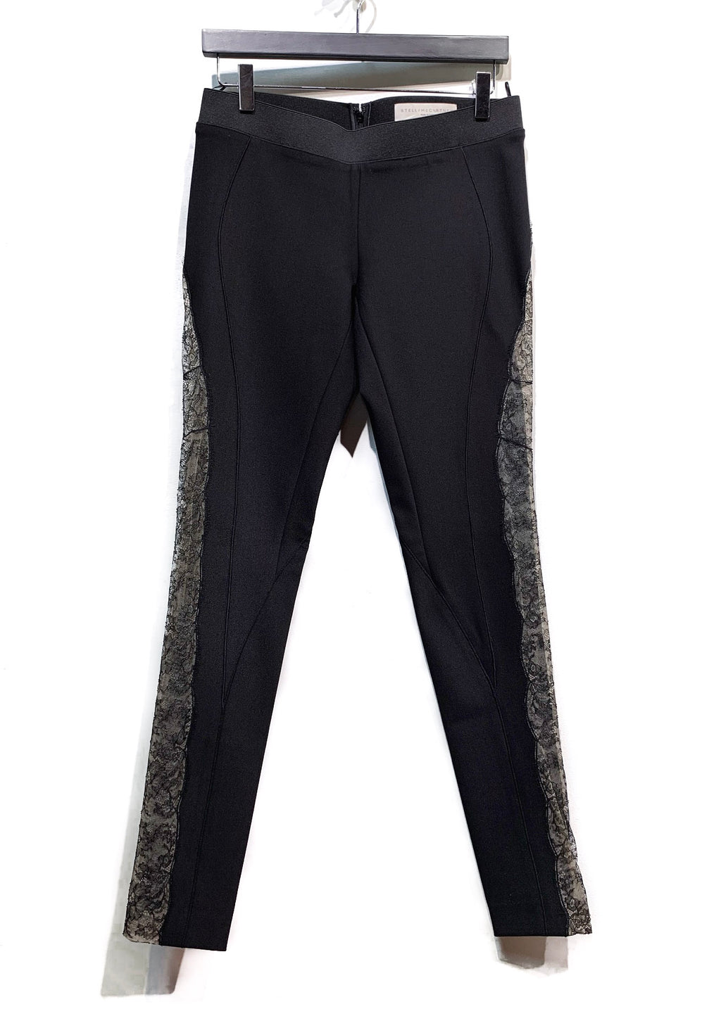Stella McCartney Black Lace Insert Leggings Trousers