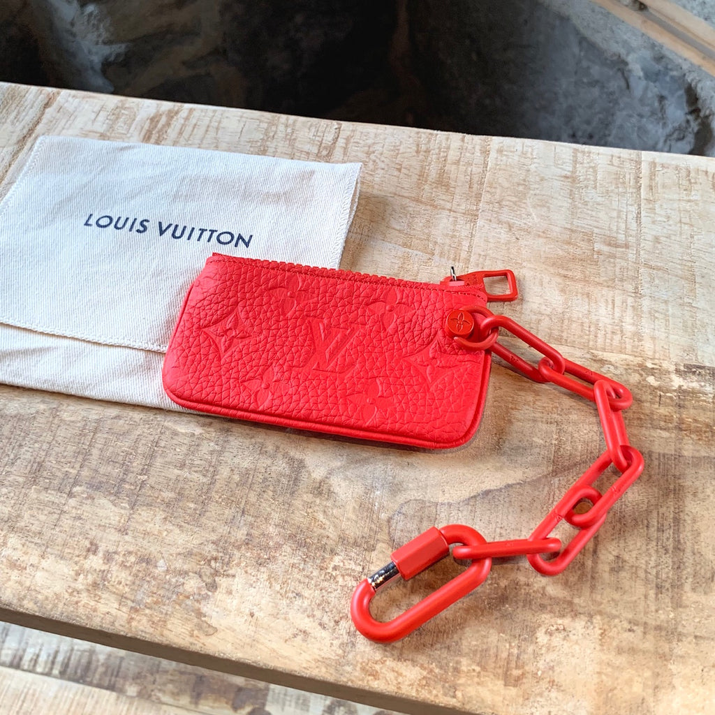 Louis Vuitton X Virgil Abloh Red Chain Key Pouch