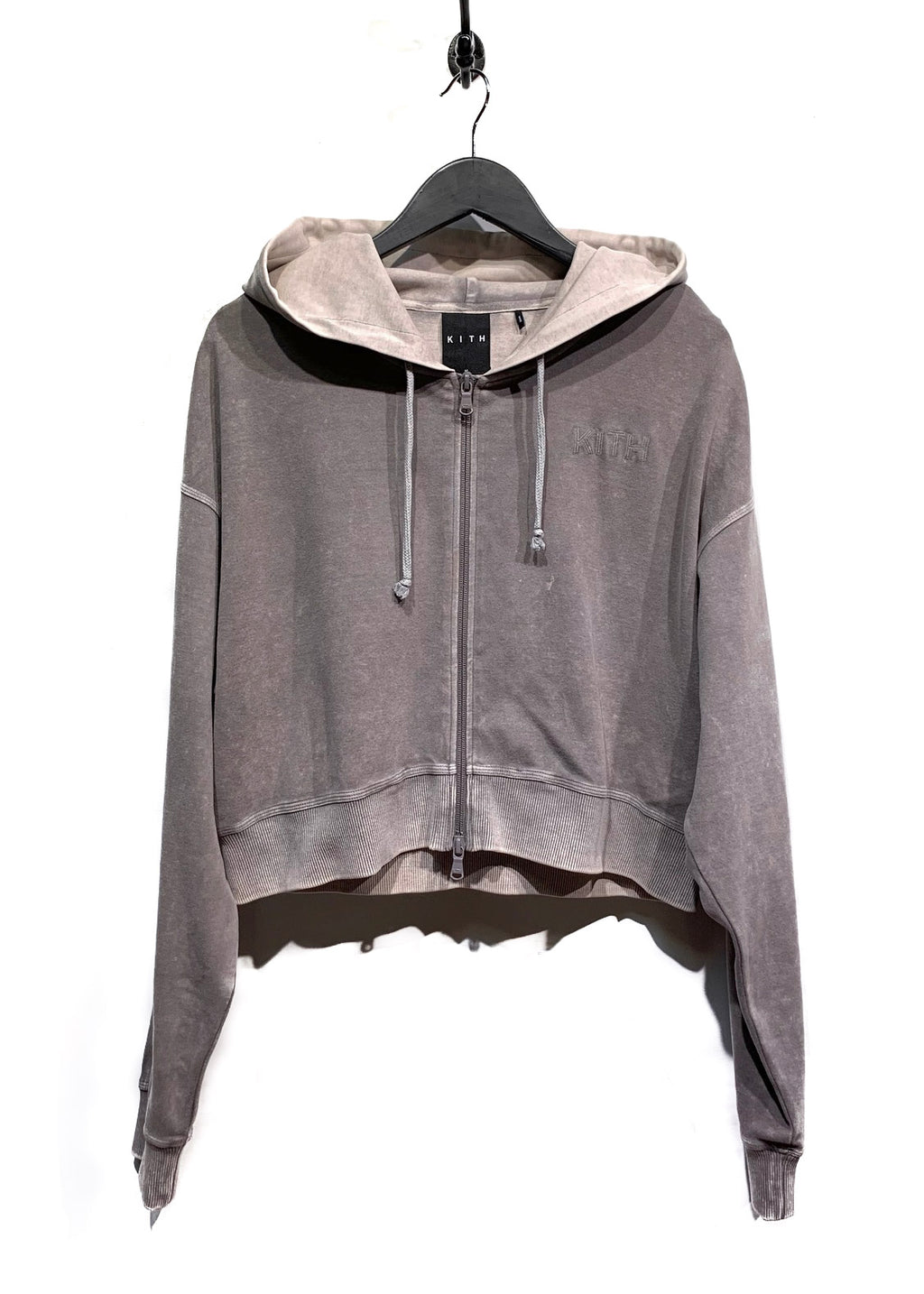Kith Tarmac Falllon Cropped Zip-Up Hoodie