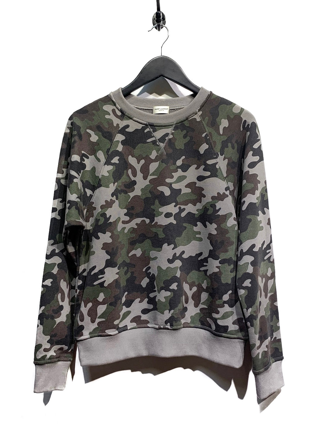 Saint Laurent Green Camouflage Sweatshirt