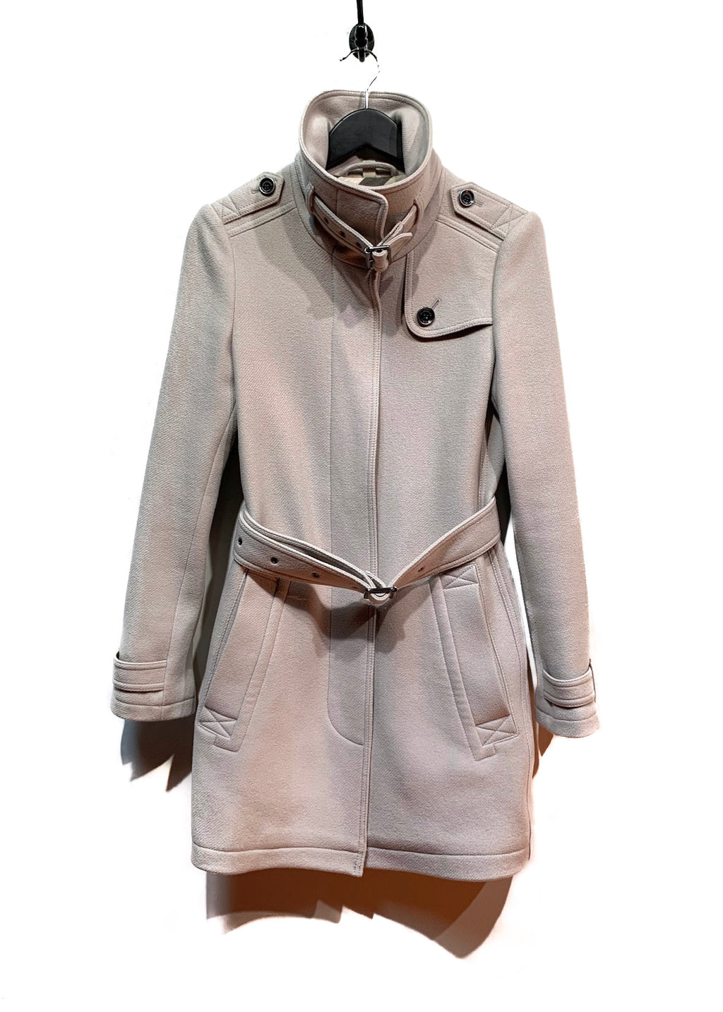 Manteau avec ceinture en laine greige Burberry Brit Rushworth