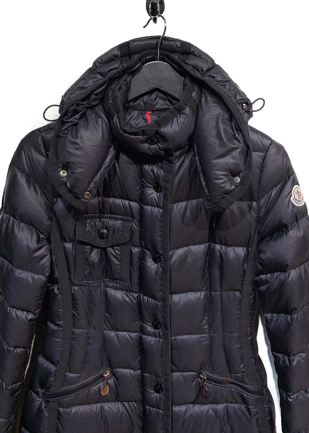 Moncler Black Hermine Down Filled Coat