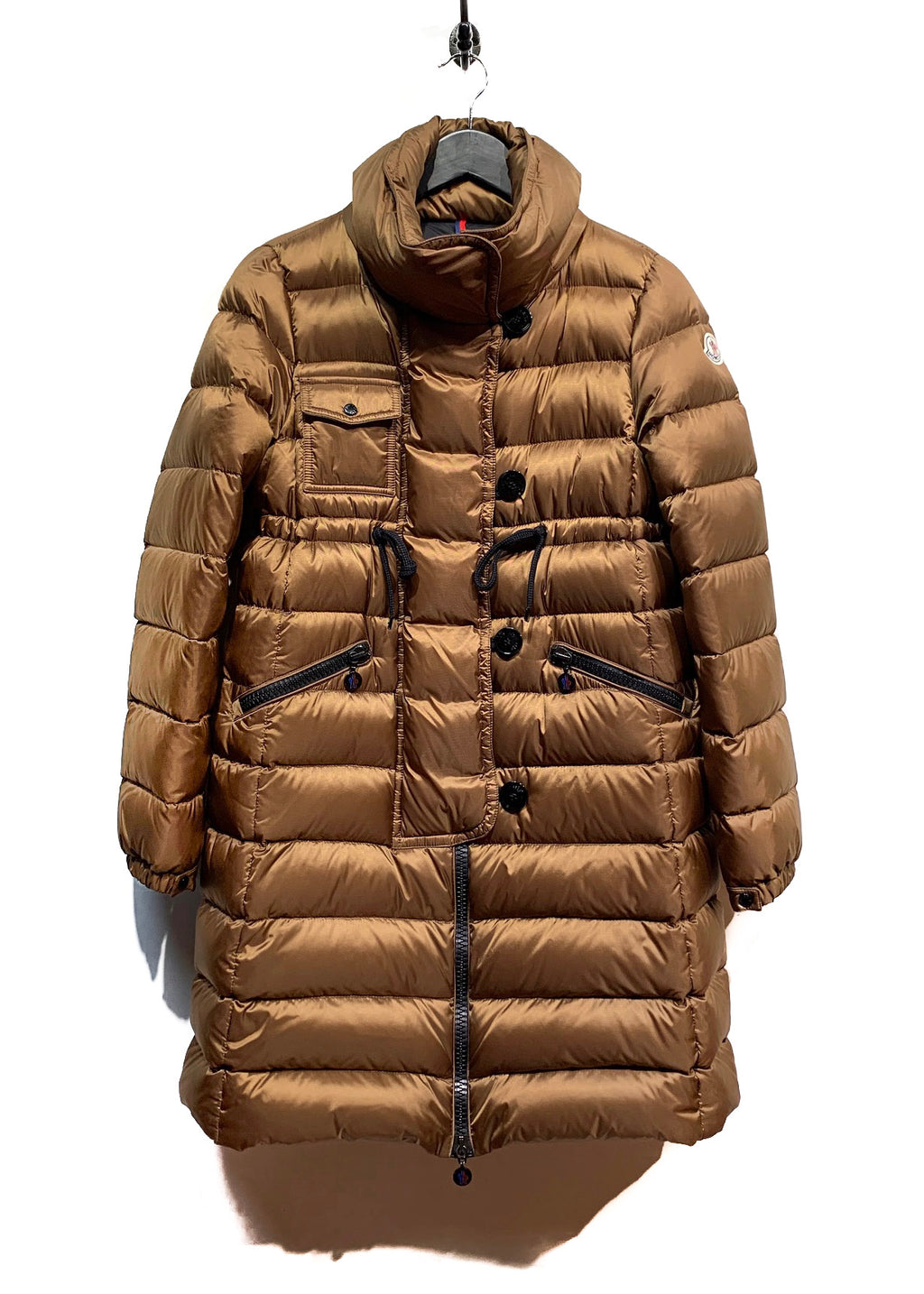 Moncler Copper Libellule Down Filled Coat