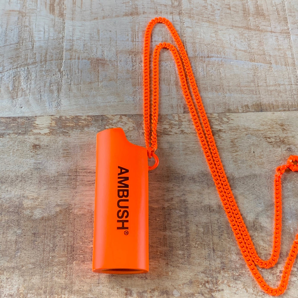 "Ambush Neon Orange ""Halloween"" Edition Lighter Necklace Large Size"