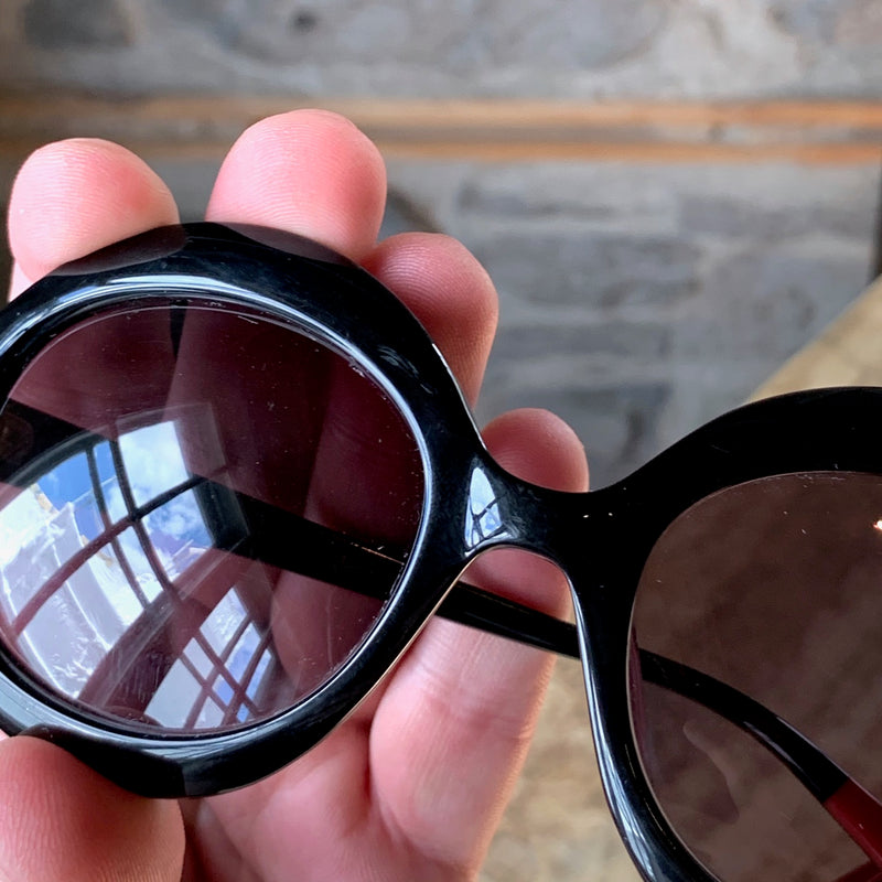 Missoni MI790S01 Black Round Acetate Sunglasses