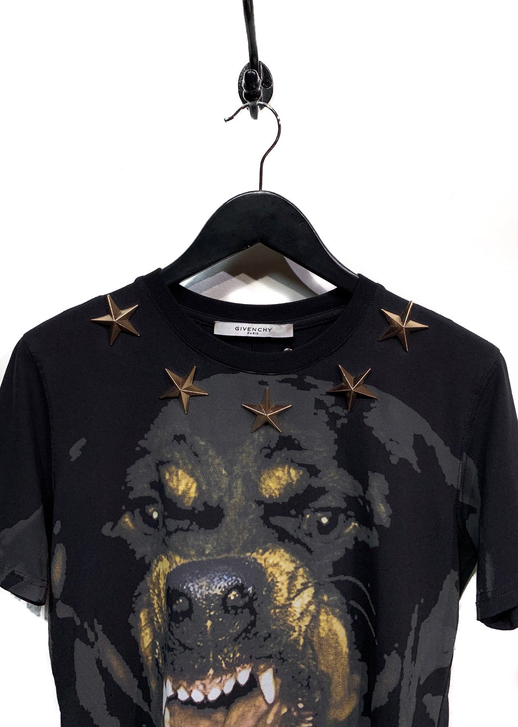 Givenchy Rottweiler Print Metal Star Appliqué T-shirt