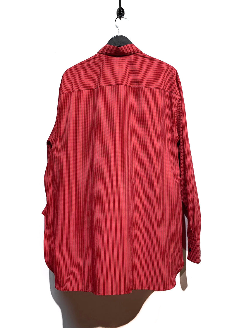 Lanvin SS18 Red Checkered Oversized Buttoned Shirt