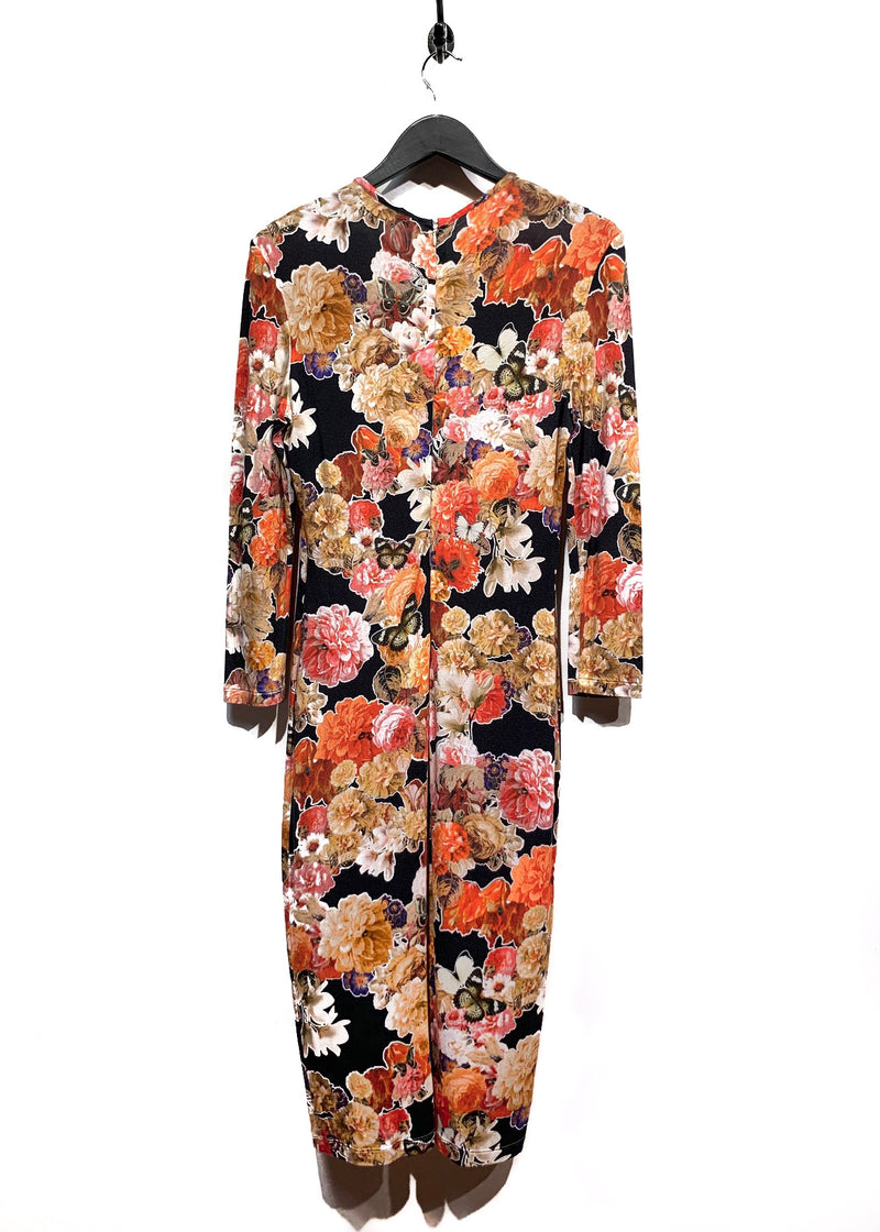Givenchy Flowers And Butterflies Printed Jersey Dress