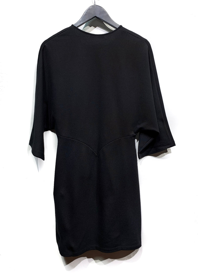 Jil Sander Black Bat Sleeves Stretch Dress
