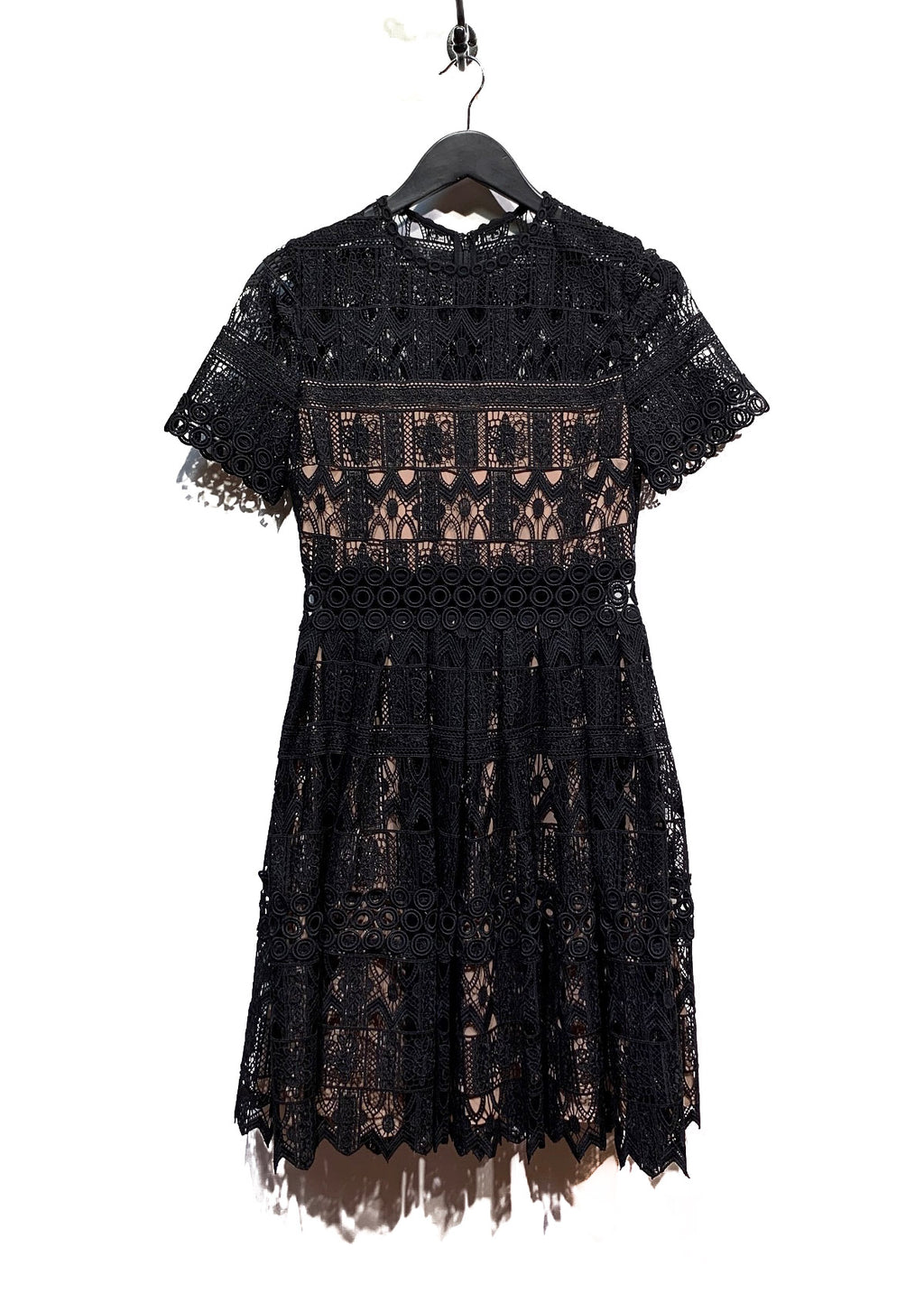 Alexis Black Lula Lace Short Dress