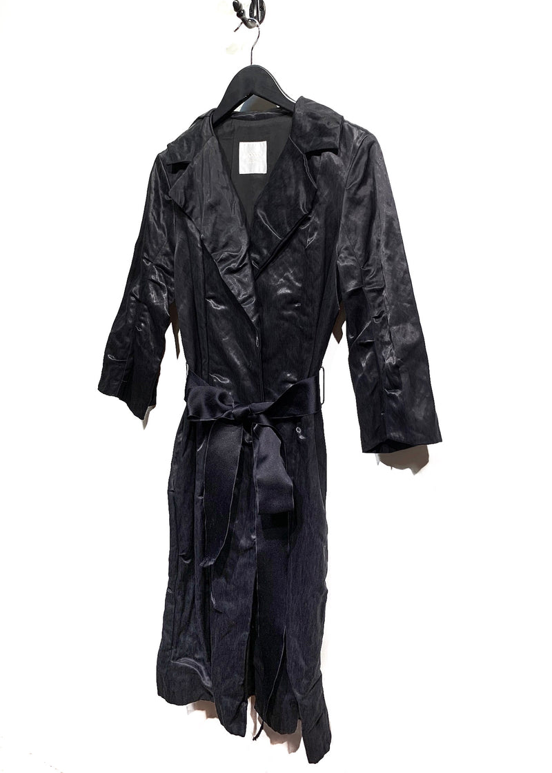 Lanvin SS06 Black Thick Long Coat