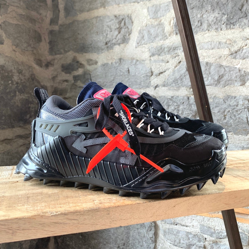 Off-White Virgil Abloh Black Odsy-1000 Sneakers